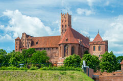 Malbork Castle in Poland. royalty free stock photography