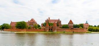 Malbork castle in Pomerania region, Poland Royalty Free Stock Photos