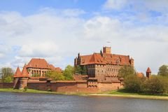 Malbork castle in Pomerania region of Poland. stock photos