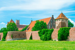 Malbork Castle and the river Nogat in Poland. Stock Images