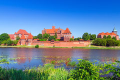 Malbork castle in summer scenery Royalty Free Stock Images