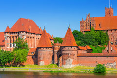 Malbork castle in summer scenery Royalty Free Stock Image