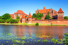 Malbork castle in summer scenery Stock Images