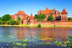 Malbork castle in summer scenery Stock Images