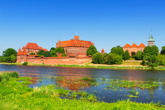 Malbork castle in summer scenery Stock Photography