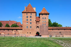 Malbork Castle Tower Gate And Wall Stock Photography