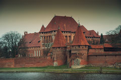 Malbork Castle. View on the front gate Stock Photo