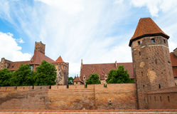 Malbork castle walls Stock Images