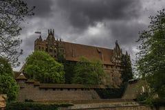 Malbork ein starkes Teutonic Schloss ?ber dem Nogat lizenzfreies stockfoto