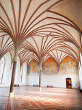 Malbork Grand Refectory. The Grand Refectory, the biggest hall in Malbork Castle with beautiful gothic rib vault ceiling, Poland Stock Image