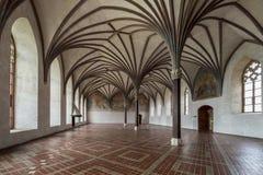 Malbork i det mest stora gotiska slottet i Polen Royaltyfria Foton