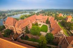 Malbork kasztel w Polska średniowiecznym fortecy budował Teutońskim Obrazy Royalty Free