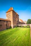 Malbork kasztel w Polska średniowiecznym fortecy budował Teutońskim Obrazy Stock