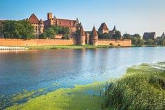 Malbork kasztel w Polska średniowiecznym fortecy budował Teutońskim Fotografia Stock