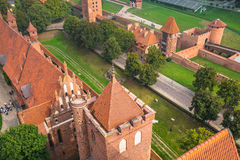 Malbork kasztel w Polska średniowiecznym fortecy budował Teutońskim Zdjęcia Stock