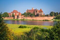 Malbork kasztel w Polska średniowiecznym fortecy budował Teutońskim Zdjęcia Royalty Free