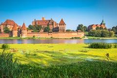 Malbork kasztel w Polska średniowiecznym fortecy budował Teutońskim Zdjęcie Stock