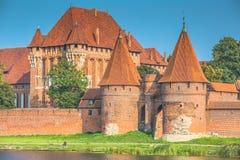 Malbork kasztel w Polska średniowiecznym fortecy budował Teutońskim Obraz Royalty Free