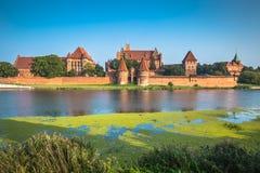 Malbork kasztel w Polska średniowiecznym fortecy budował Teutońskim Fotografia Royalty Free