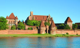 Malbork knights castle in Poland. (world heritage list Unesco Royalty Free Stock Images