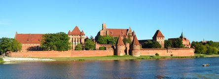 Malbork knights castle in Poland. (world heritage list Unesco Stock Images