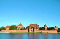 Malbork knights castle in Poland. (world heritage list Unesco Royalty Free Stock Image