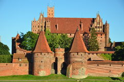 Malbork knights castle in Poland. (world heritage list Unesco Stock Photo