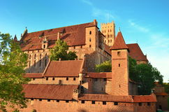 Malbork knights castle in Poland. (world heritage list Unesco Royalty Free Stock Photography
