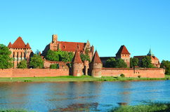 Malbork knights castle in Poland. (world heritage list Unesco Stock Image