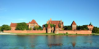 Malbork knights castle in Poland. (world hritage list Unesco Stock Photo