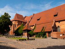 Malbork main courtyard Royalty Free Stock Photos
