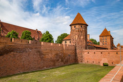 Malbork, Marienburg, the biggest medieval gothic castle in Poland. Royalty Free Stock Images