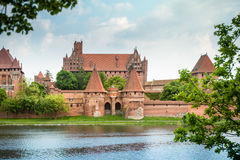Malbork (Marienburg) Castle in Pomerania, Poland. Stock Image