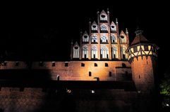 Malbork at night, Pomerania, Poland Stock Photos