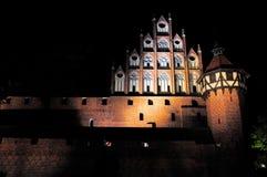 Malbork at night, Pomerania, Poland. The medieval castle at night. Malbork, Poland Stock Photos
