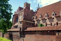 Malbork, Poland: Castelo de Malbork Imagem de Stock Royalty Free