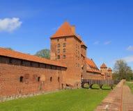 Malbork, Pologne Ao?t, 11 - 2016 : Le vieux ch?teau dans Malbork photos stock
