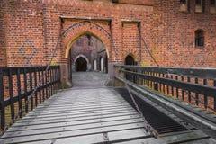MALBORK, POLOGNE - 1ER AVRIL 2017 : Scène pittoresque de Malbork Ca Images stock