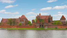 Malbork, Polska: Malbork, Marienburg Timelapse panorama kasztel zbiory