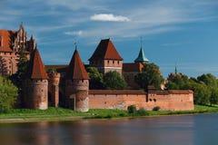 Malbork Schloss an einem schönen Tag Stockfoto