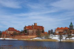 Malbork-Schloss Stockfotos