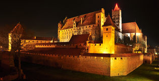 Malbork slott Royaltyfri Fotografi