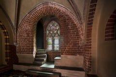 Malbork slott i Polen. fotografering för bildbyråer