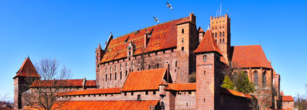 Malbork Teutonic Castle, Poland. Malbork Castle in Poland. This was an Ordnungsburg, or a castle of the Teutonic knights. It is remarkably well-preserved and Stock Images