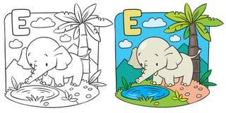 Malbuch des Elefanten Alphabet D Lizenzfreie Stockfotografie