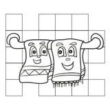 Malbuch für Kinder, Geschirrtuch - Farbtonseiten Lizenzfreie Stockfotos
