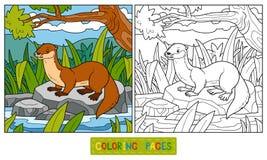 Malbuch (Otter und Hintergrund)