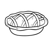 Malbuch, Torte vektor abbildung