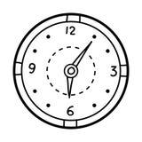 Malbuch, Uhr stock abbildung