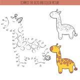Malbuch und Punkt, zum des Lernspiels für Kinder zu punktieren Schließen Sie das Punktpuzzlespiel an Arbeitsblatt für Klasse oder Stockbild